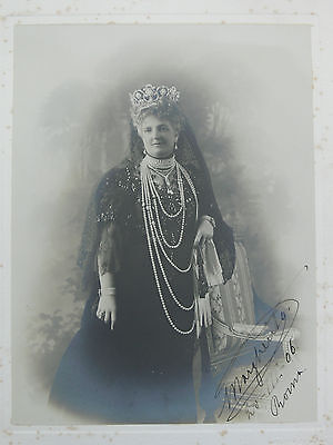 Princess Margherita of Savoy Lovely 1906 Signed Photo Queen Consort of Umberto I