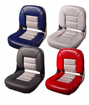 Tempress All-Weather Boat Seat & Cushion Combo Red / Gray Single Seat TEM-45611