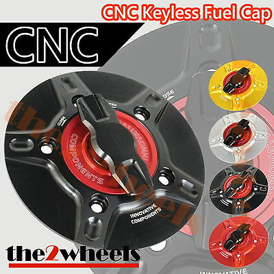 1/4 Turn CNC Keyless Racing Quick Open Gas Fuel Cap for Ducati Monster 696 / 796