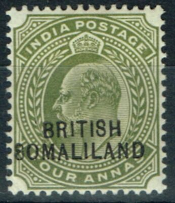 Somaliland 1904 4a Olive SG29Var 8 for S in 8omaliland Fine Mtd Mint