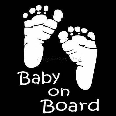 Lovely Car Window Decal Motorcycle Decals Sticker Little Footprint BABY ON BOARD