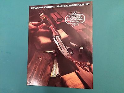Remington Sporting Firearms 1979 Brochure Catalog Advertising