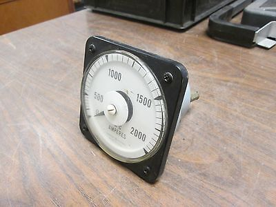 GE Type AB-40 AC Ammeter 50-103131-LSTM2 Range: 0-2000A CT Ratio: 400:1 Used