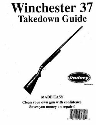 Winchester Model 37 Takedown Disassembly Assembly Guide Radocy  NEW