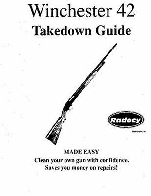 Winchester Model 42  Takedown Disassembly Assembly Guide Radocy  NEW