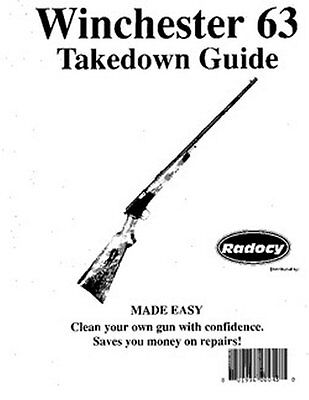 Winchester Model  63  Takedown Disassembly Assembly Guide Radocy  NEW
