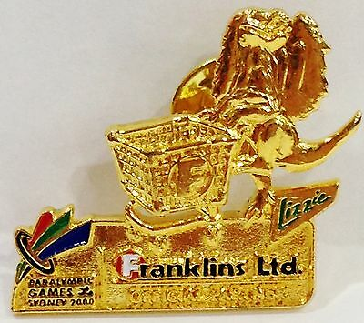 Franklins Lizzie Gold Sydney Olympic Games 2000 Pin Collect #654