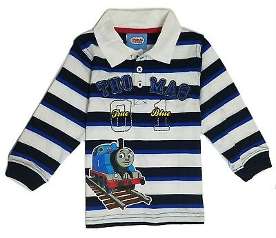 Boys Polo Shirt Toddler Baby Thomas Friends Long Sleeve Striped 18 24 Months New