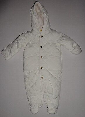 Polo Ralph Lauren Infant Baby Girl White Cream  Bunting Snow Suit 3M, 6M, 9M New