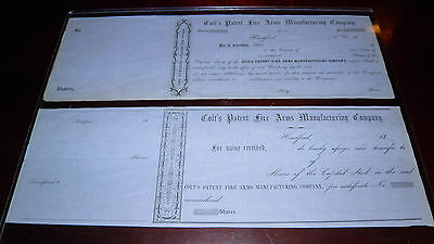 Colt's Patent Fire Arms Manufacturing Co Capital Stock Certificate 1840's-1860's