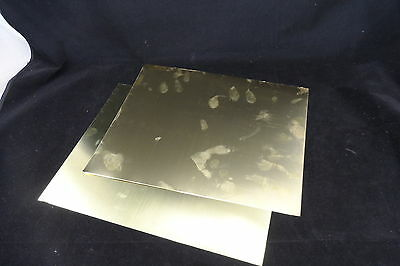"BRASS SHIM - 300mm x 240mm x 0.125mm (.005"") - 2 A4 SHEETS PER PACK FREE POST"