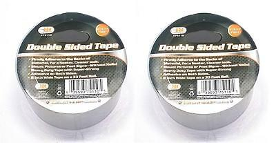 "2 ROLLS 2"" Wide 33 Foot Long Double Sided Adhesive Clear Tape"