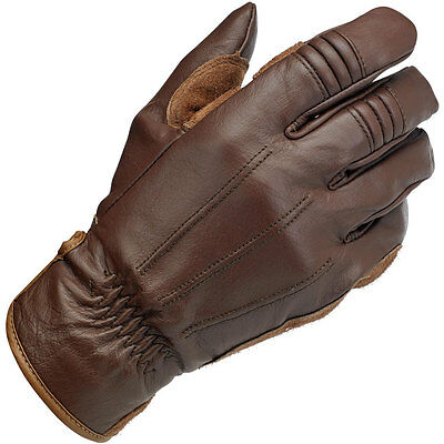 BILTWELL Leather Work/Motorcycle Gloves (Chocolate) Choose Size