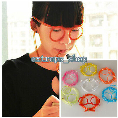 Hot Novelty Fun Drinking Unique Flexible Soft Glasses Straw Glasses Drink Tube E