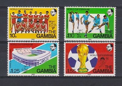 s5673)GAMBIA 1982 MNH* World Cup Football 1982-Campionati Mondo Calcio 4v.