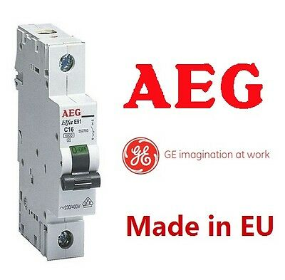 16 A AMP 1 Pole 6KA MCB Cicuit breaker Switch GermanAEG New Free Post Made in EU