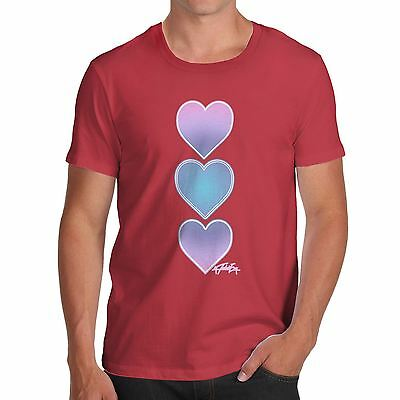 Twisted Envy Men's Purple Tie Dye Hearts Cotton T-Shirt