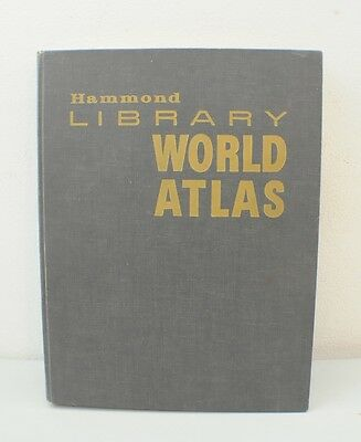 Hammond Library World Atlas (1963, Hardcover)