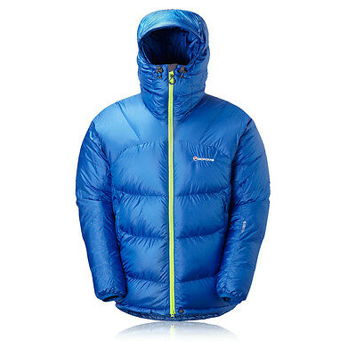 Montane Chonos Ultra Mens Blue Water Resistant Warm Hooded Down Jacket