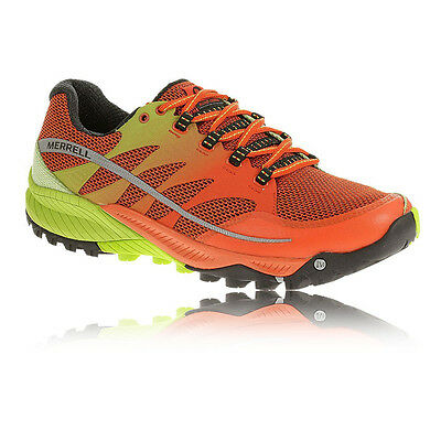 Merrell Allout Charge Homme Orange Trail Amorti Chaussures Course À Pied Baskets