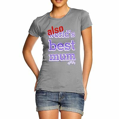 Twisted Envy Women's Also World's Best Mum Purple Cotton T-Shirt