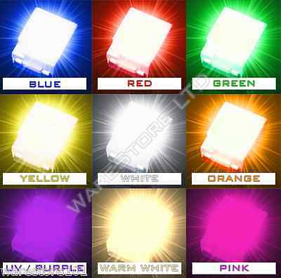 SMD LED 1210 3528 SMT PLCC-2 Red Blue Green White Yellow Orange UV Bright Light