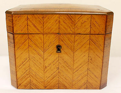 Amazing Late 18Th Century French Wood And Brass Tea Caddy #1