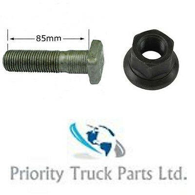 10 x Scania Rear Wheel Stud and Wheel Nut - Square Head - 85mm