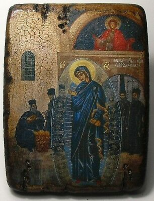 Handmade copy ancient ORTHODOX CHURCH ICON Mother of God of Light 48M
