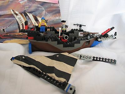 Vintage Lego Pirate Ship 6268 Instructions Included Some Parts