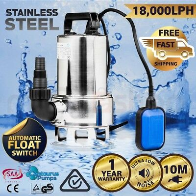 CENTAURUS Submersible Dirty Water Sump Pump 1500W - Grey Water Sewage Sullage
