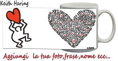Tazza Keith Haring- Graffiti-pop art-  Personalizzata con nome,frase -idea regal