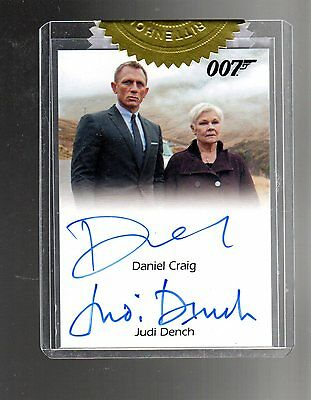 2014 James Bond Archives Daniel Craig & Judi Dench 9 case auto card