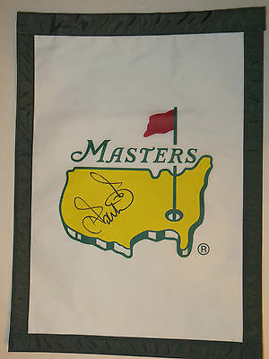 IAN POULTER Signed MASTERS Golf Tournament FLAG 2017 Pga Augusta National