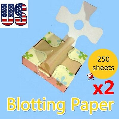 Cosmetic blotting paper oil control tissue 500 sheets natural ingredient