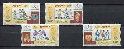 s6132) SEN EGAL 1986 MNH** WC Football'86 - CM Calcio 4v WINNERS