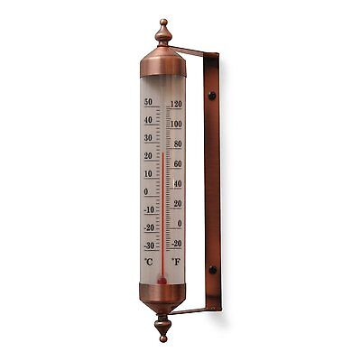 Antique Copper Finish Adjustable Angle 10 IncGarden Thermometer (R804707) NEW ..