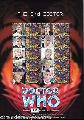 BC-141 - Doctor Who - The 3rd Doctor- Smilers Stamp Sheet
