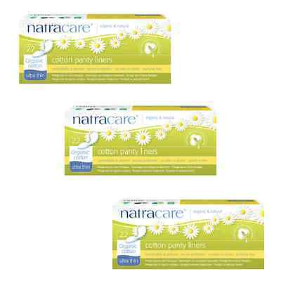 Triple Pack Natracare ULTRA THIN Panty Liners Organic Cotton, Chlorine Free.