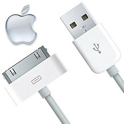 Original Apple iPhone 4 4S 3G 3GS iPod & iPad 2 & 1 Ladegerät USB LEAD