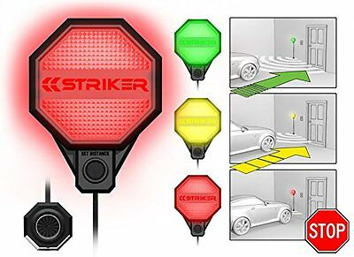 Striker garage parking sensor