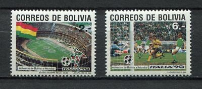 s6193) BOLIVIA 1990 MNH** WC Football'90 - CM Calcio 2v