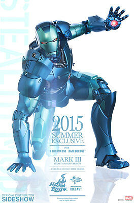"""Iron Man Mark III Stealth Mode 2015 Exclusive MMS314 12"""" Marvel Figur Hot Toys"""
