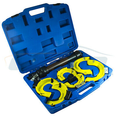 STRUT COIL SPRING COMPRESSOR SET- 8PCS with safety cover PROTECT KIT UNIVERSAL