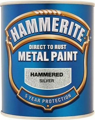 Hammerite Direct to Rust Hammered Silver Finish 5L