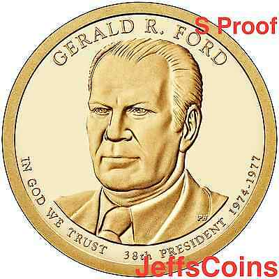 2016 S Gerald Ford Presidential Golden Proof Dollar Best Grade Coin 16P3 16PH R.