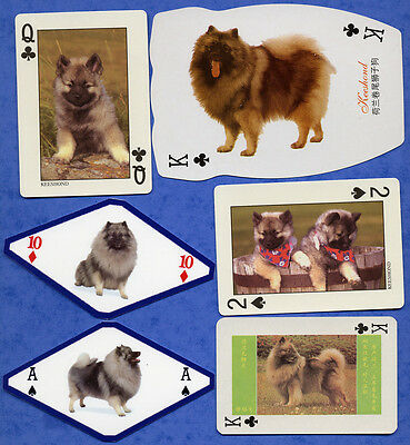 Keeshond Dog Playing Swap Single Cards Great Gift When framed