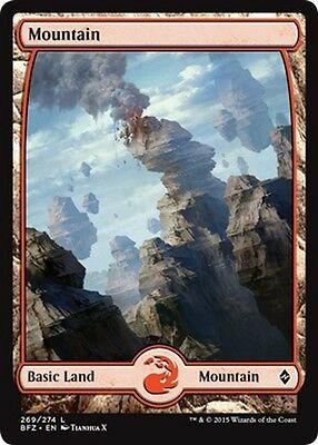 2x FULL ART Montagna 269 - Mountain 269 MTG MAGIC BFZ Battle for Zendikar En/It