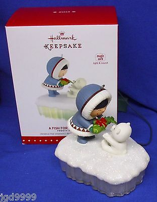 Hallmark Ornament Frosty Friends A Fish For Christmas 2015 Magic Cord Light Soun