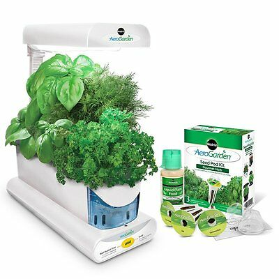Miracle-Gro AeroGarden Sprout with Gourmet Herb Seed Pod Kit,White [900814-1200]